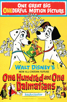 Kinoplakat (US): One Hundred and One Dalmatians
