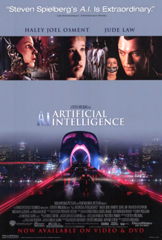 DVD-Cover (US): Artificial Intelligence: A.I.