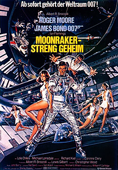 Kinoplakat: James Bond 007 – Moonraker – Streng geheim